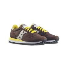 Scarpe uomo scarpe da ginnastica SAUCONY JAZZ in tela marrone e giallo JAZZ-2044-416