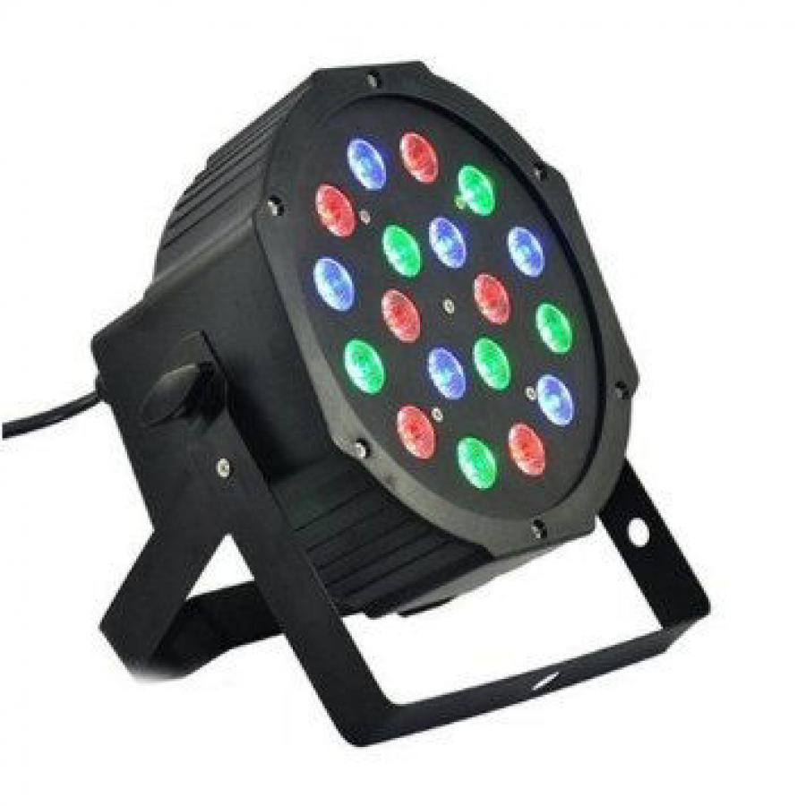 2 PAR LED FARO RGB 18 Watt STROBO WASH PROGRAMMABILE DMX + MIXER RGB 192!!! 2