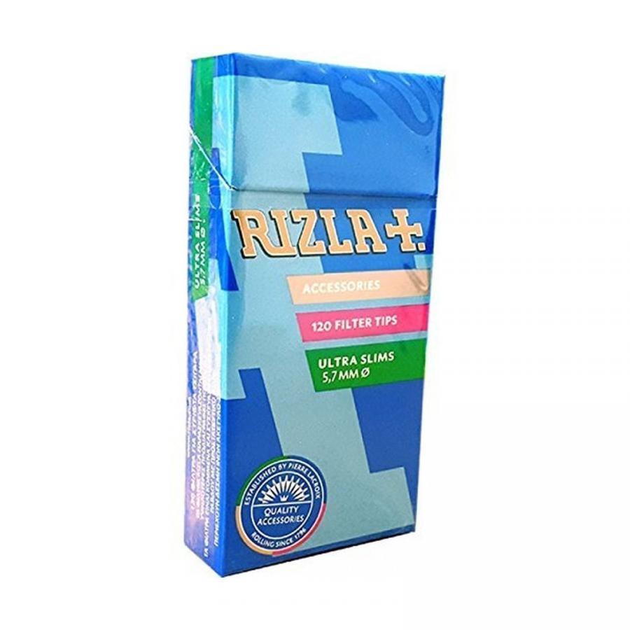 2400-filtri-Rizla-ultra-slim-da-5-7-mm-filtrini-in-stick-da-20-box-per-sigarette miniature 2