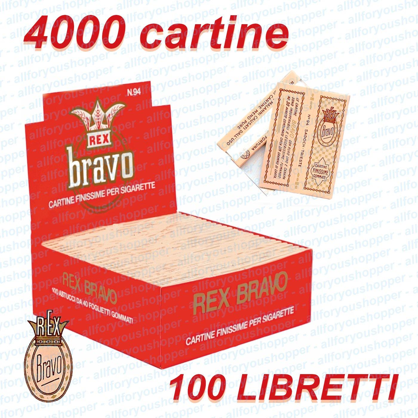 cartine bravo rex  CARTINE BRAVO REX Corte 1 Box 100 Libretti 4000 Cartine - EUR 25,80 ...